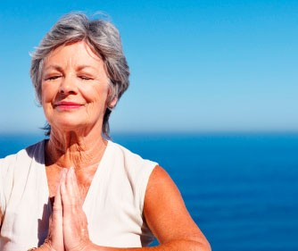 senior woman meditation