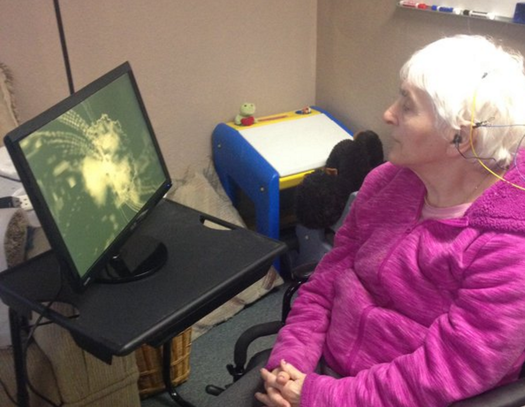 senior using neurofeedback training